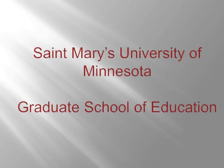 Master of arts in special education