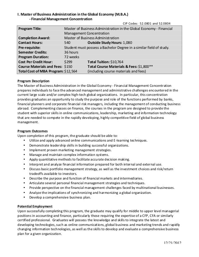 business administrator resumes