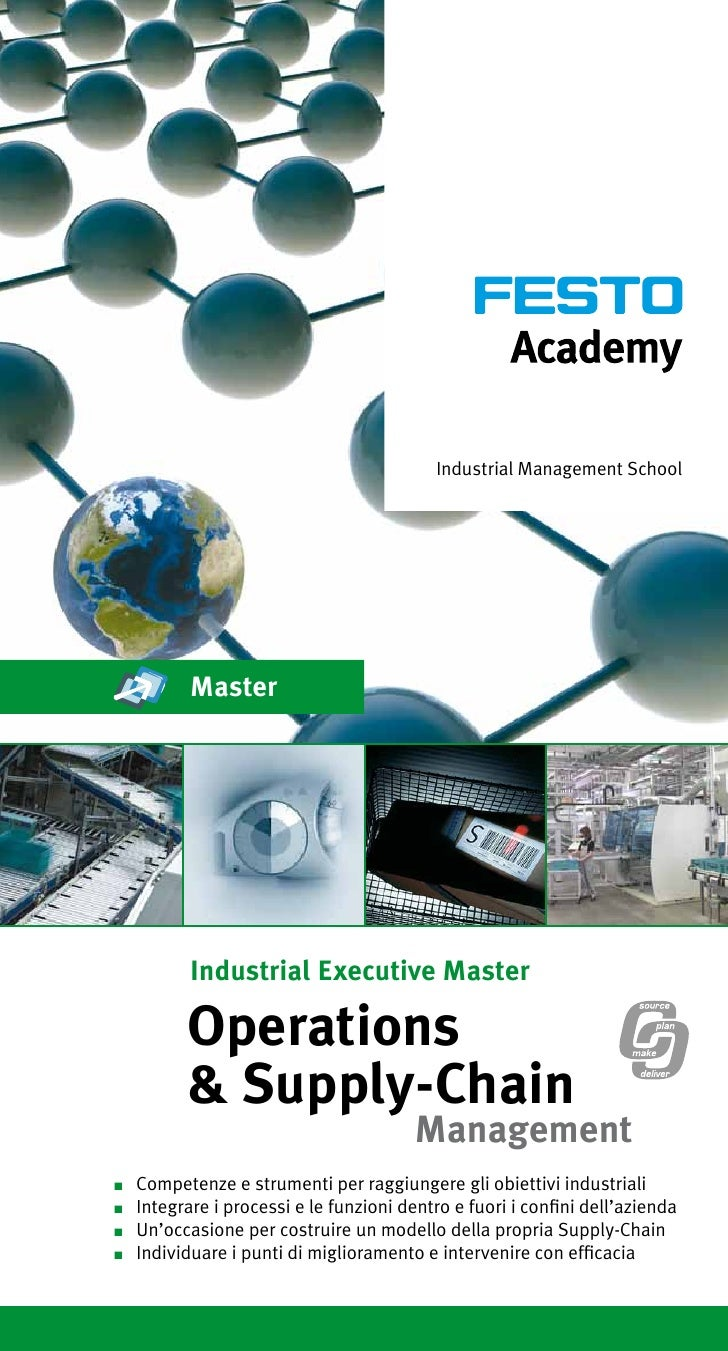 Master Operations & Supply Chain Management Festo Academy ed. 12 June  2014