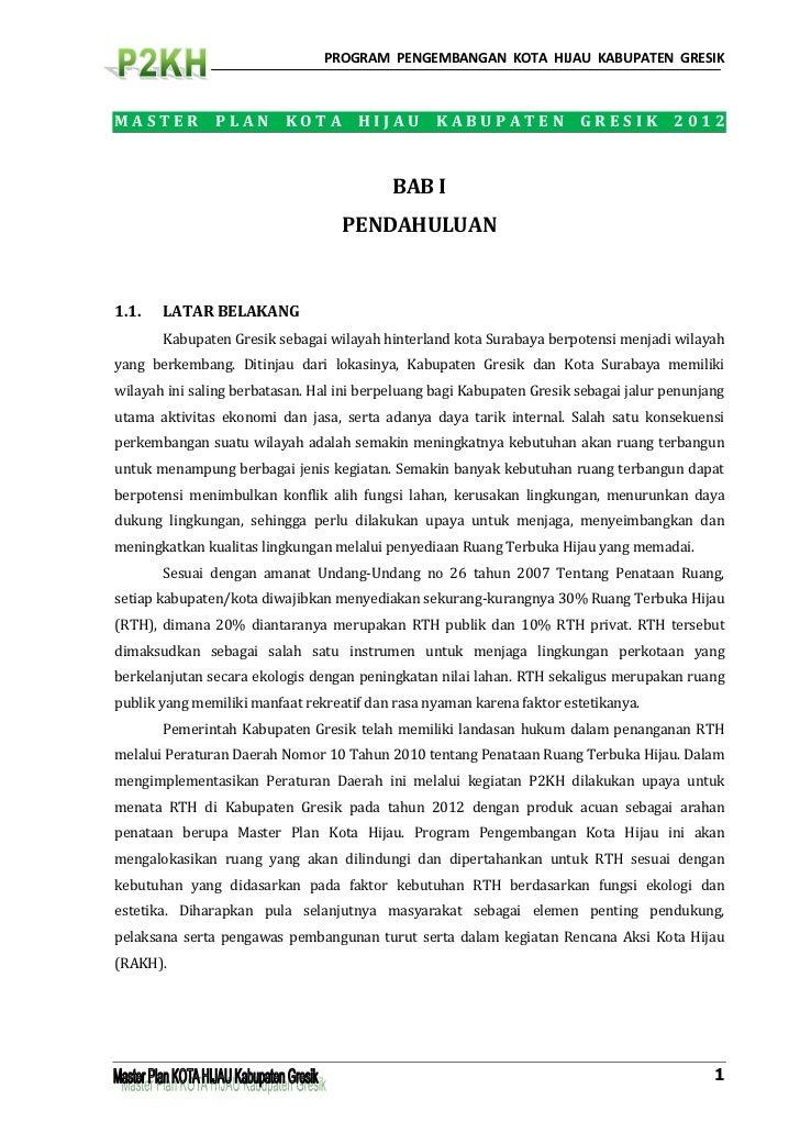 Draft Master Plan RTH Kab. Gresik_P2KH - agustus 2012_final