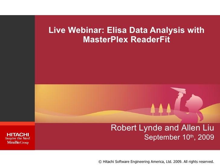 Webinar: Elisa data analysis made easy with MasterPlex ReaderFit