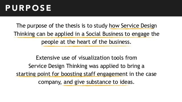 Master thesis purpose