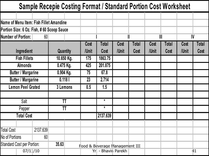 standard recipe card template