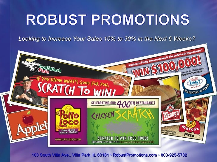 Robust Promotions & Sweepstakes