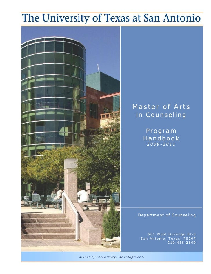 Masters Counseling Handbook