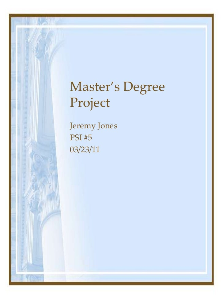 A master s degree or a master s degree