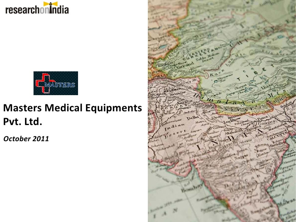 Masters Medical Equipments Pvt Ld. - Company Profile