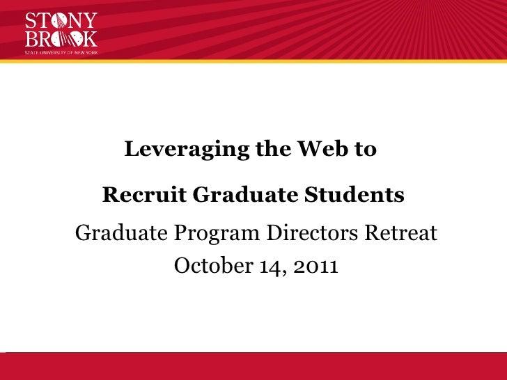Graduate Retreat Presentation