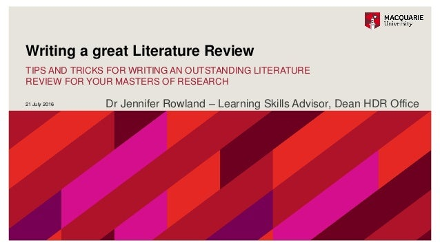 masters thesis literature Writing a masters dissertation – writing a first  literature and personal encounters and experiences  writing a masters dissertation – writing a first draft.