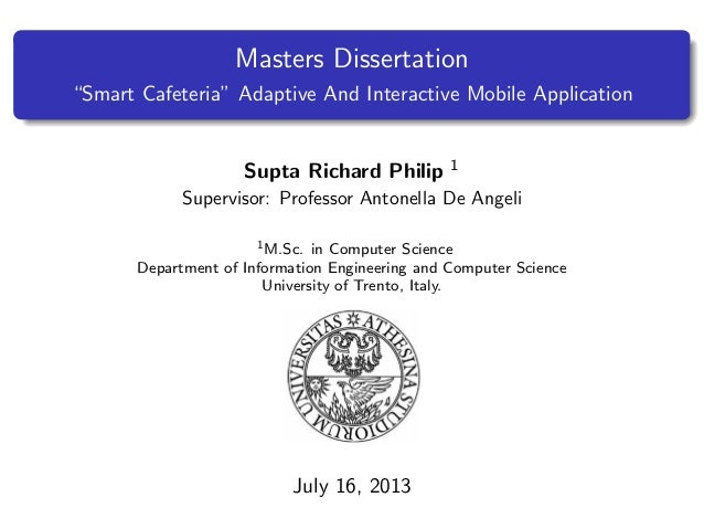 masters degree dissertation thesis