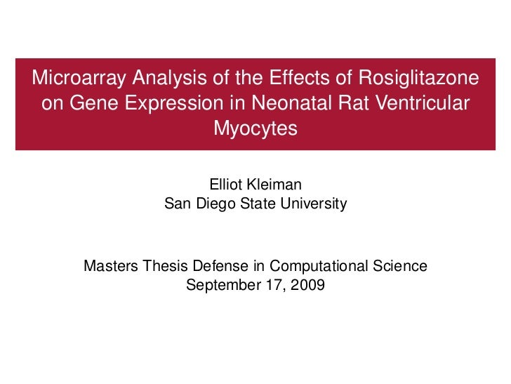 Masters Thesis Defense