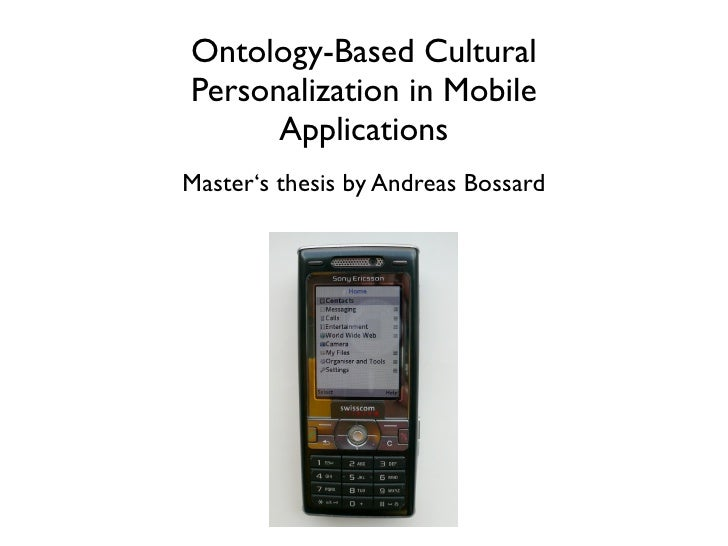 Master's Thesis: Ontology-Based Cultural  Personalization in Mobile Applications
