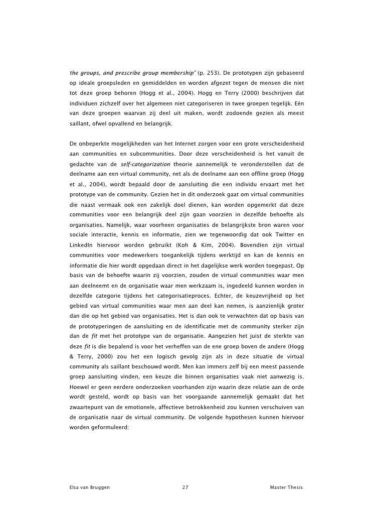 Voorwoord master thesis