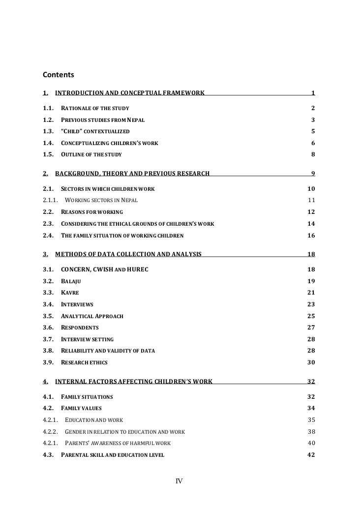 Table of Contents and List of Figures/Tables