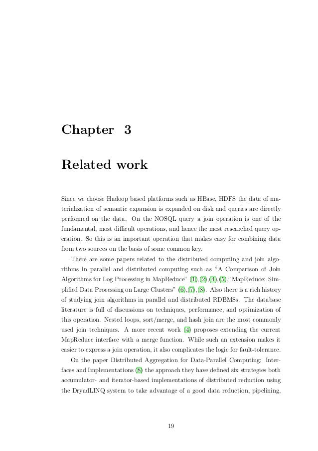 Master thesis related work