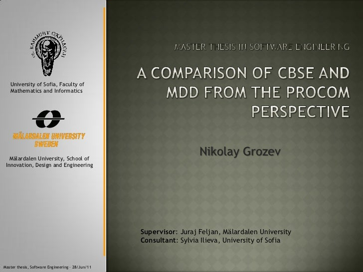 "Presentation - ""A comparison of component-based software engineering and model-driven development from the ProCom perspective"""