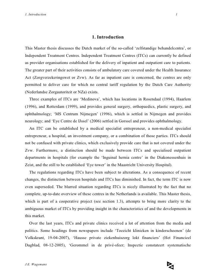 Dissertation health economics