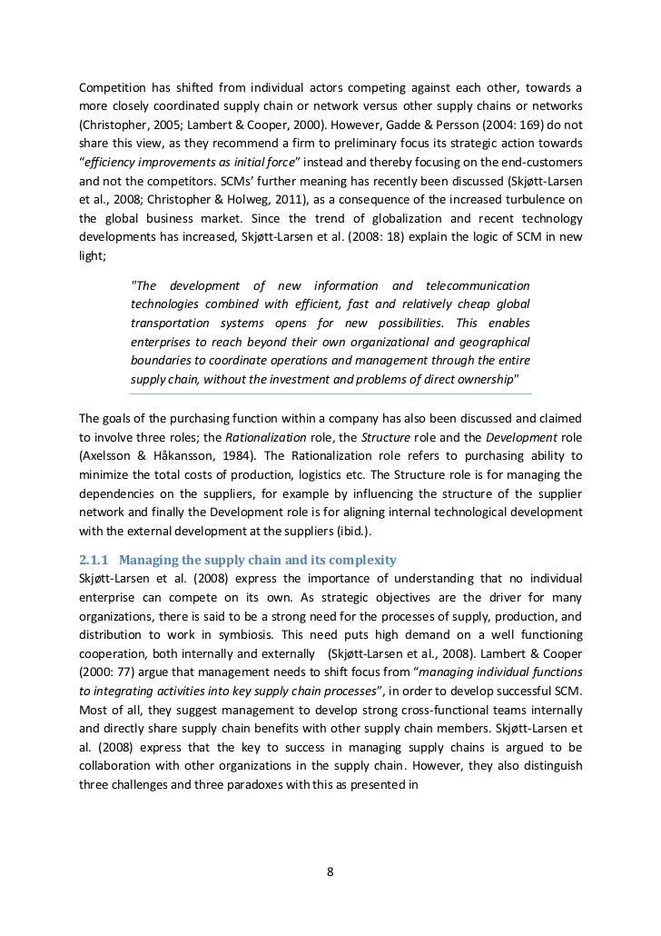 Master thesis scm