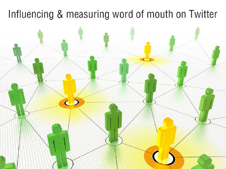 Thesis presentation: Influencing & measuring word of mouth on Twitter