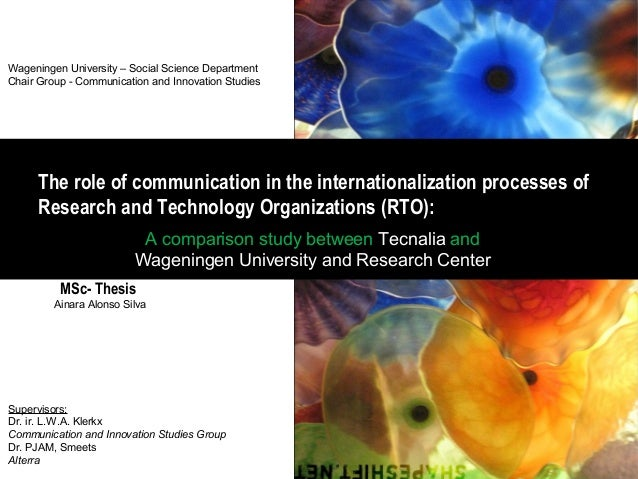 Masters thesis communication studies
