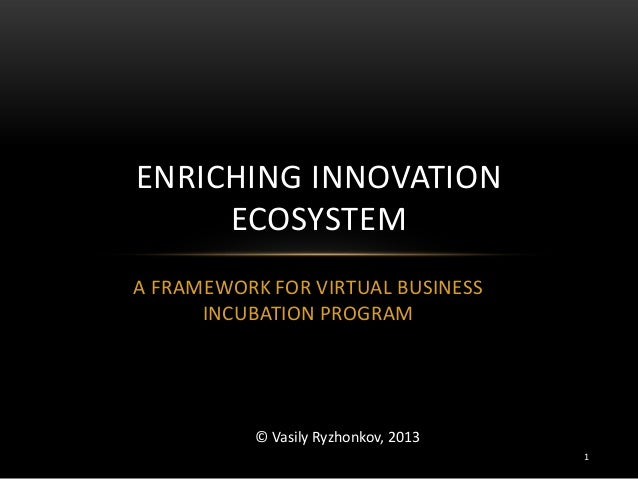 Virtual Business Incubator Framework for Enriching Innovation Ecosystem 2013