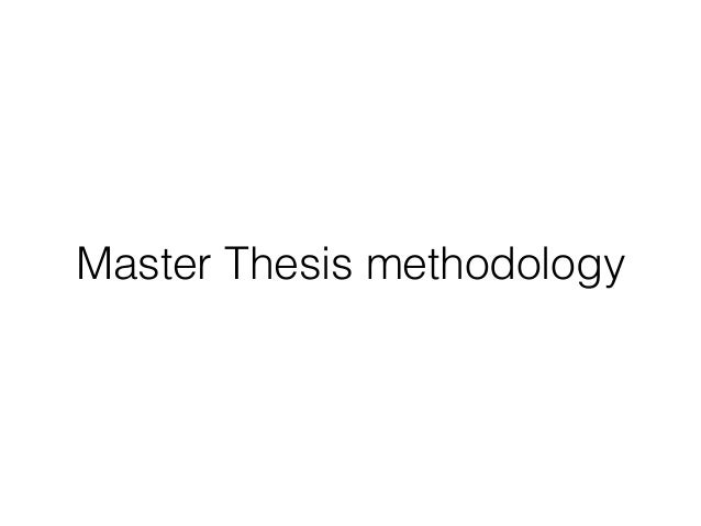 Master thesis figures