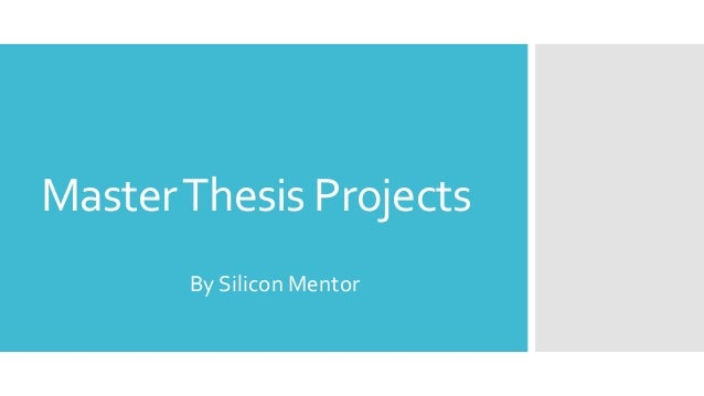Defense and Approval of the Masters' Thesis or Project