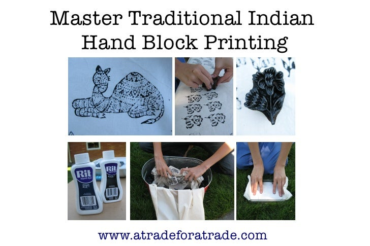 Master Traditional Indian   Hand Block Printing         www.atradeforatrade.com