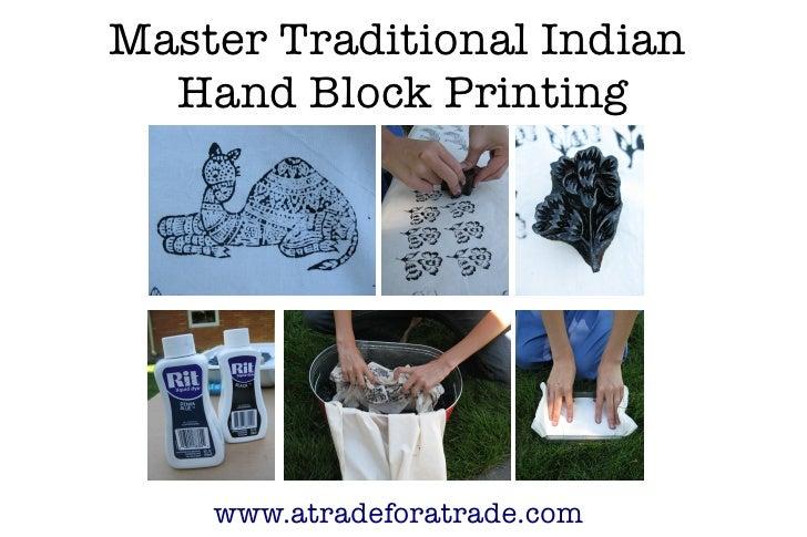 Master Indian Hand Block Printing Using Traditional Wood Block Stamps (wood print blocks)