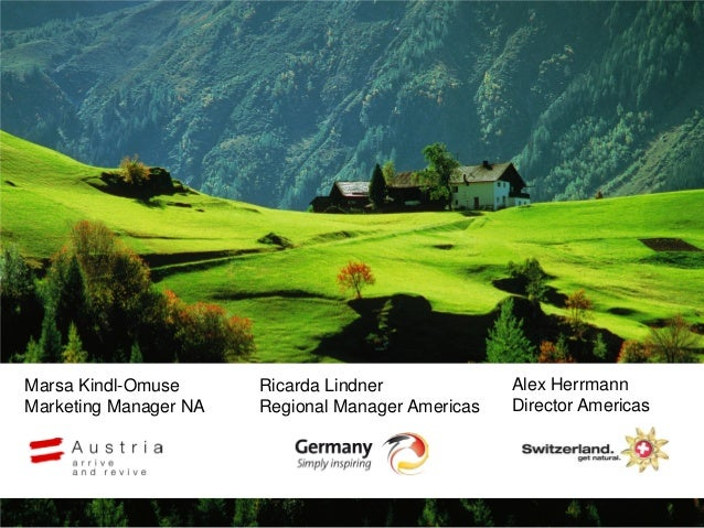 Marsa Kindl-OmuseMarketing Manager NARicarda LindnerRegional Manager AmericasAlex HerrmannDirector Americas