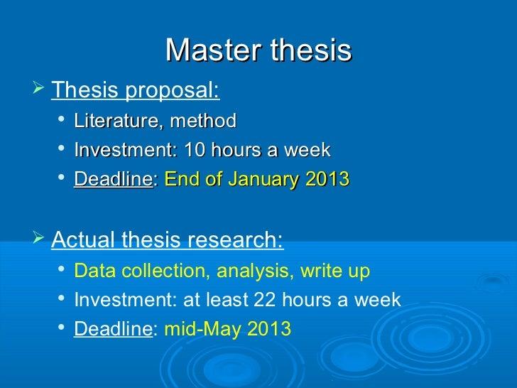 master thesis types