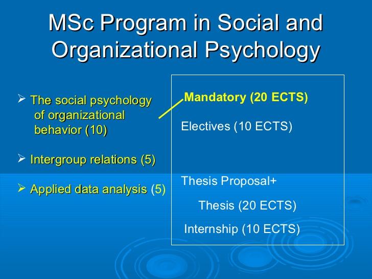 organizational psychology thesis