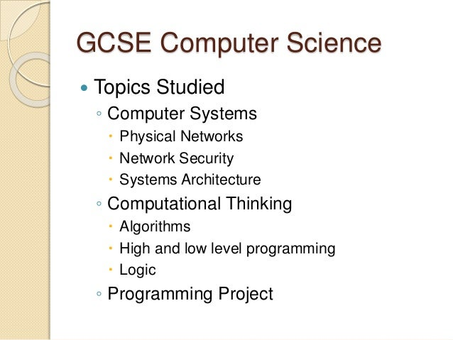 What is core science in the GCSE studies?