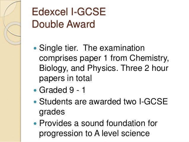 How does the grading work in edexcel gcse double award science?