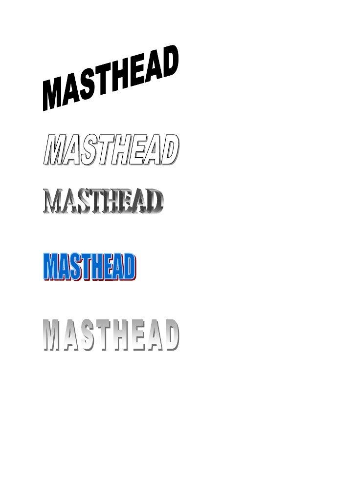 Masthead design