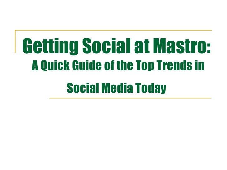 Social Media Training at Mastro Communications