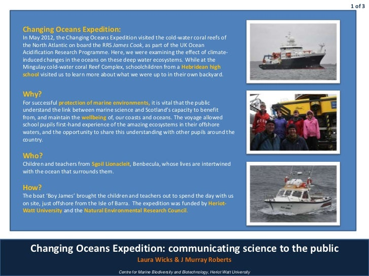 Changing Oceans Expedition 2012 - Laura Wicks, MASTS