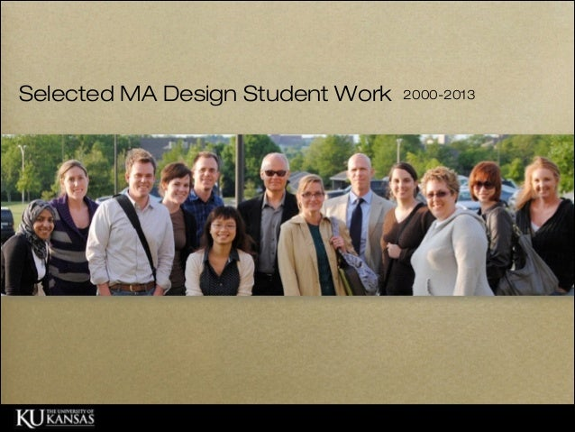 Selected MA Design Student Work  2000-2013
