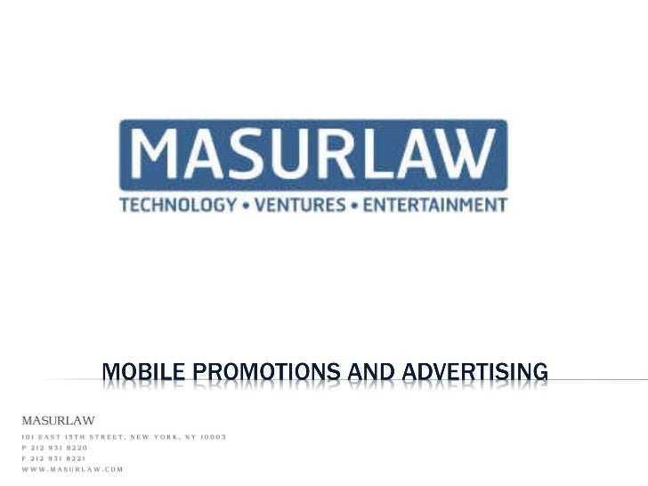 MasurLaw Mobile Promotions
