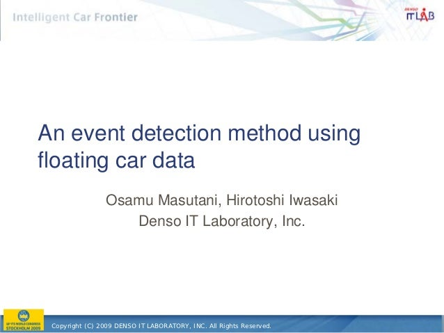 An event detection method using floating car data