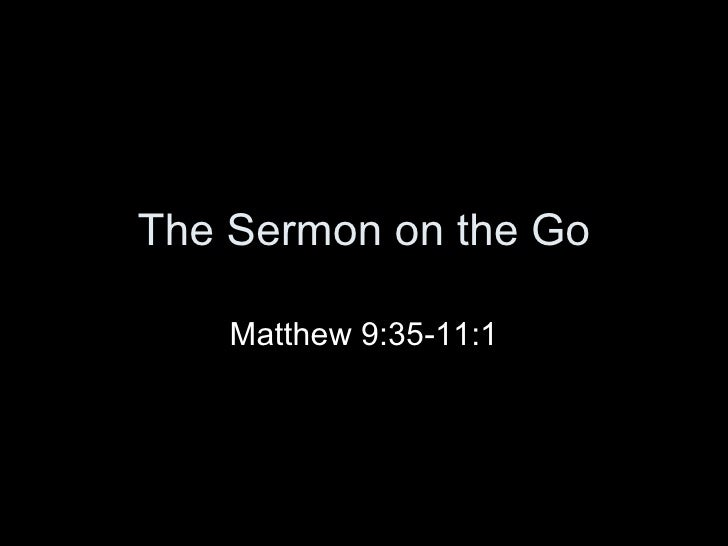 The Sermon On The Go