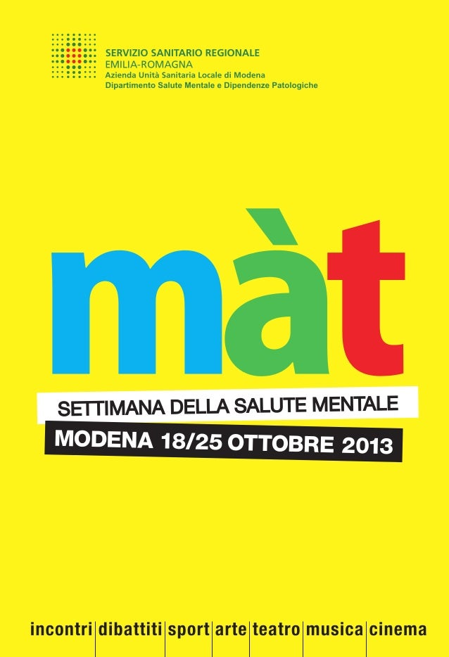 Settimana di Salute Mentale a Modena (2013)