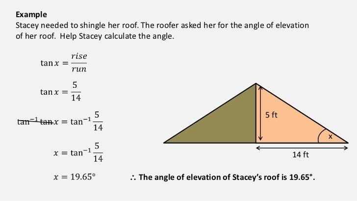 Angle Elevation Formula The Angle of Elevation