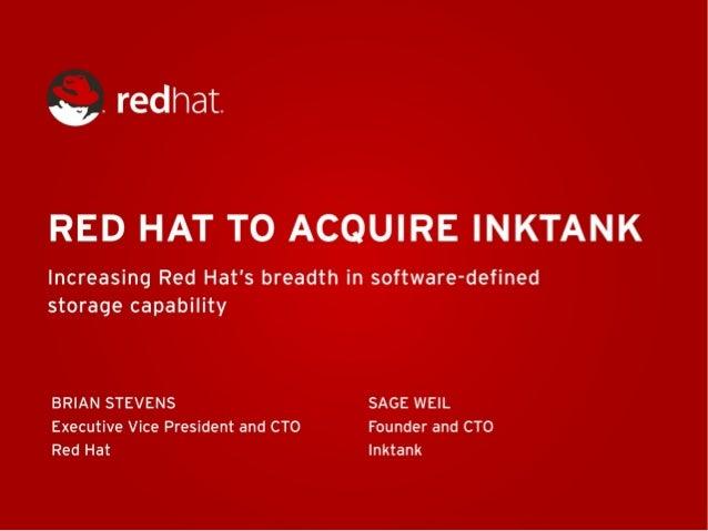 Red Hat Acquires Ceph Vendor Inktank