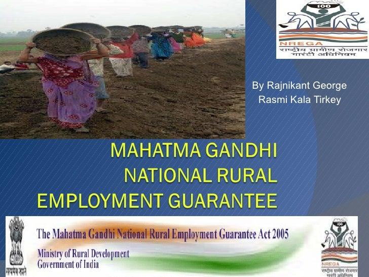 Matama ghandi national rural employment guarantee act