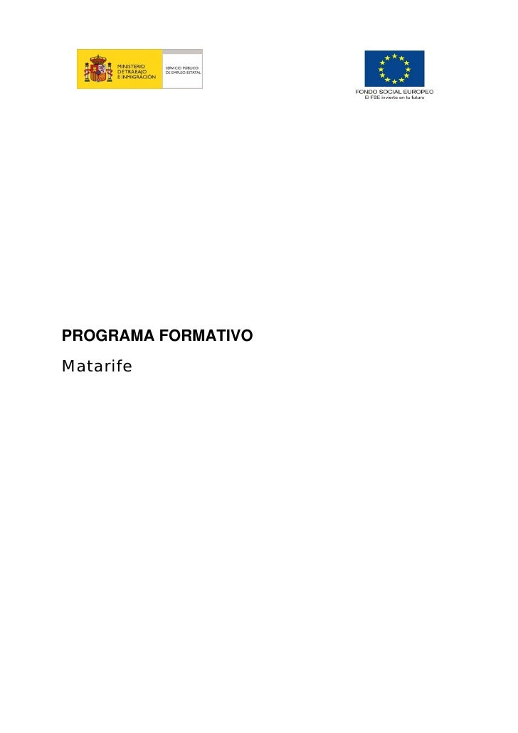 PROGRAMA FORMATIVOMatarife