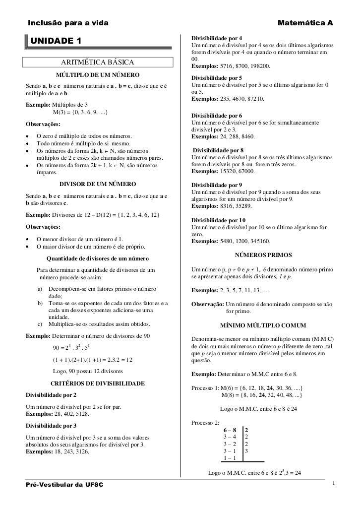 Inclusão para a vida                                                                               Matemática A UNIDADE 1 ...