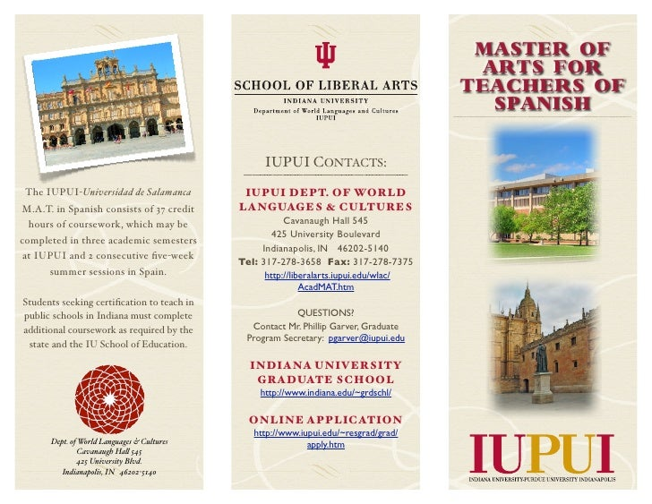 Master of Arts for Teachers of Spanish Brochure