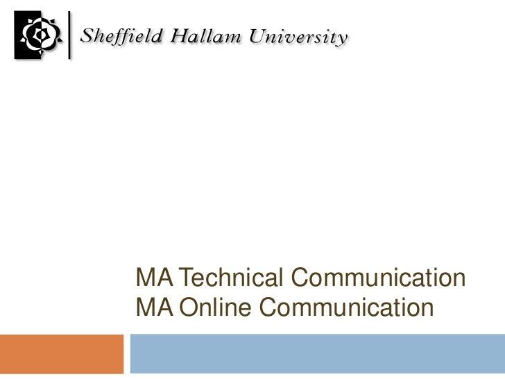 MA Technical CommunicationMA Online Communication