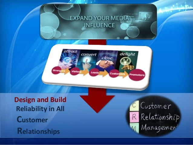 Design and Build Reliability in All Customer Relationships